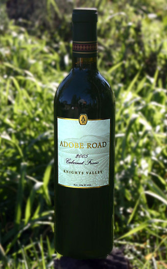 Adobe Road 2005 Knights Valley Cabernet Franc 750ml Wine Bottle