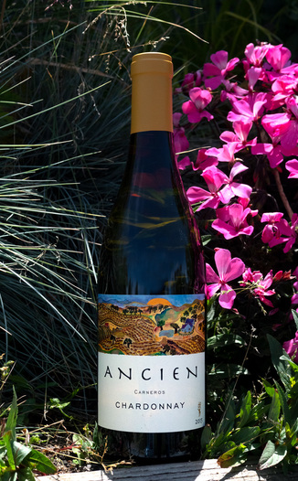 Ancien 2015 Carneros Chardonnay 750ml Wine Bottle