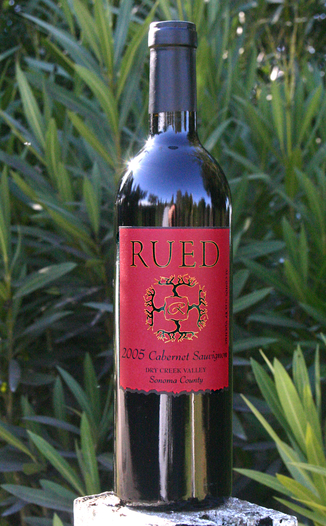 Rued Winery 2005 Estate Cabernet Sauvignon 750ml Wine Bottle