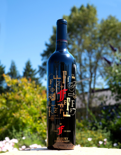 "Fleury Estate 2013 ""The F in Red"" Rutherford Proprietary Red 750ml Wine Bottle"