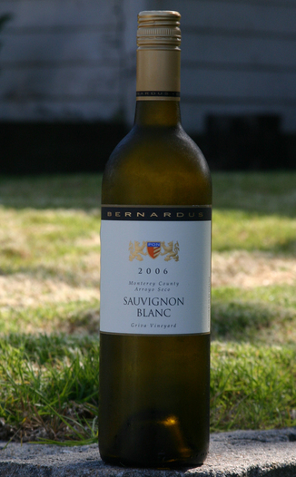 Bernardus Winery 2006 Sauvignon Blanc 750ml Wine Bottle