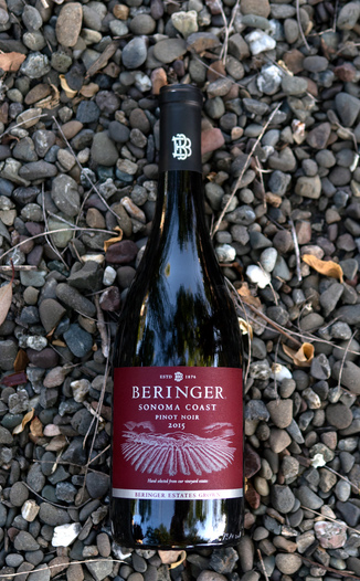 Beringer Vineyards 2015 Sonoma Coast Pinot Noir 750ml Wine Bottle