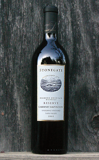 Stonegate Winery 2003 Diamond Mountain Reserve Cabernet Sauvignon 750ml Wine Bottle