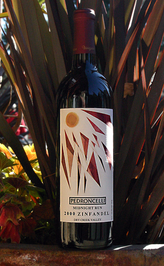 Pedroncelli Winery & Vineyards 2000 Midnight Run Zinfandel 750ml Wine Bottle