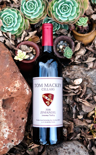 Tom Mackey Cellars 2016 Sonoma Valley Zinfandel 750ml Wine Bottle