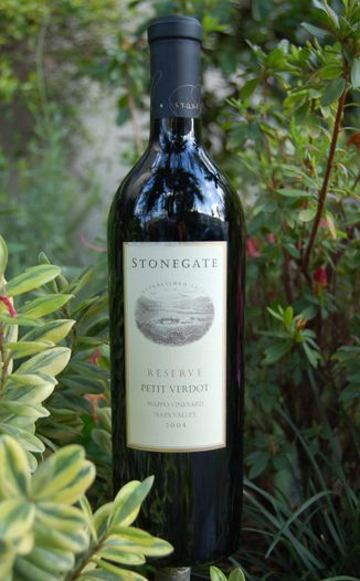 Stonegate Winery 2004 Reserve Petit Verdot 750ml Wine Bottle