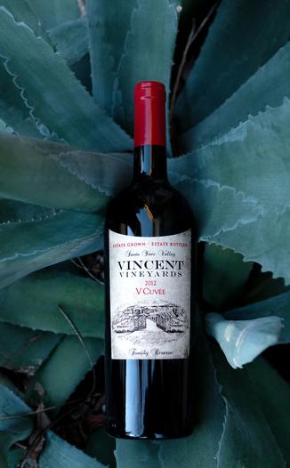 Vincent Vineyards & Winery 2012 'V Cuvée' Santa Ynez Valley Cabernet Blend 750ml Wine Bottle