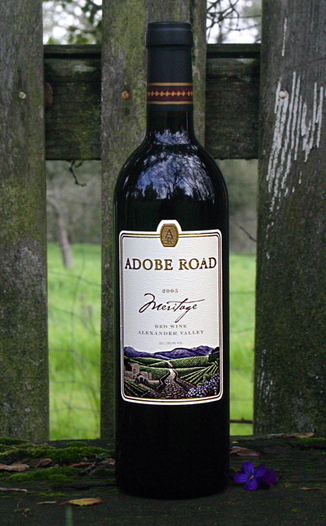 Adobe Road 2005 Meritage Red Wine 750ml Wine Bottle