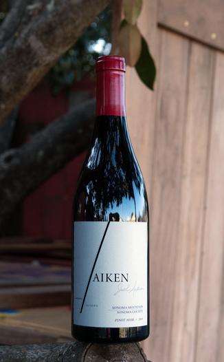 Aiken 2015 Silver Pines Vineyard Sonoma Mountain Pinot Noir 750ml Wine Bottle