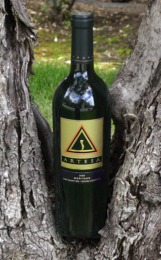 Artesa Vineyards and Winery 2005 Meritage 750ml Wine Bottle