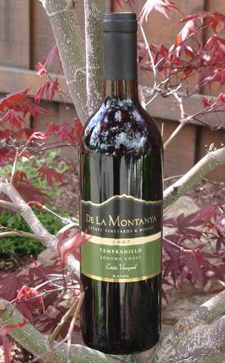 De La Montanya Estate 2007 Flying Rooster Ranch Tempranillo 750ml Wine Bottle