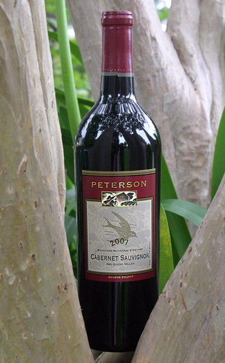 Peterson Winery 2001 Bradford Mountain Cabernet Sauvignon 750ml Wine Bottle