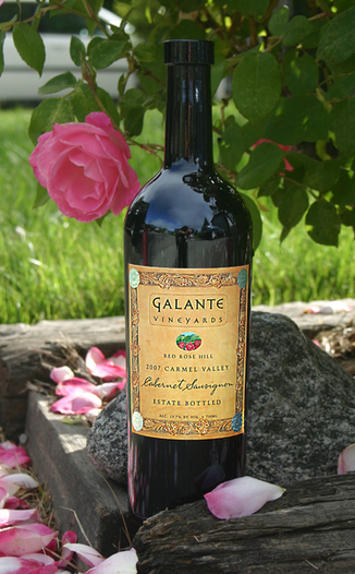 Galante Vineyards 2007 Red Rose Hill Cabernet Sauvignon 750ml Wine Bottle