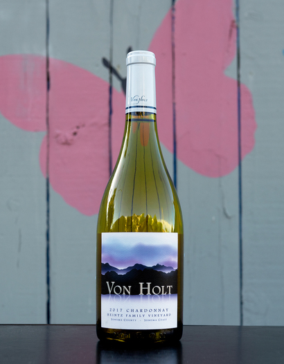 Von Holt 2017 Heintz Family Vineyard Sonoma Coast Chardonnay 750ml Wine Bottle