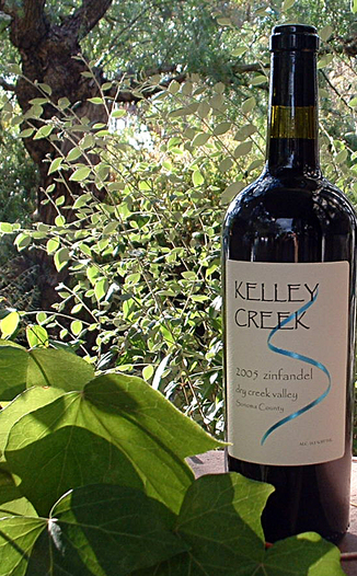 Kelley Creek Winery 2005 Zinfandel 750ml Wine Bottle