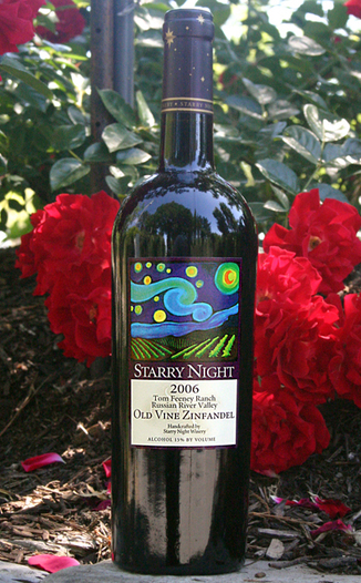Starry Night Winery 2006 Tom Feeney Ranch Old Vine Zinfandel 750ml Wine Bottle