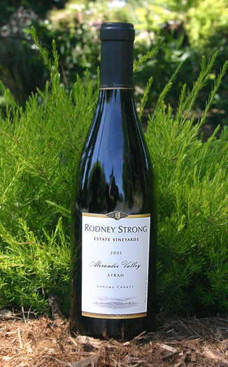 Rodney Strong Vineyards 2005 Alexander Valley Estate Syrah  750ml Wine Bottle
