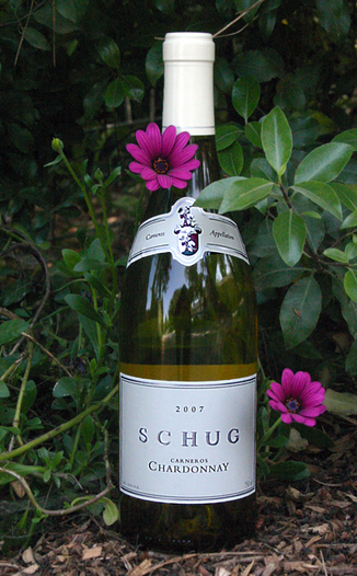 Schug Carneros Estate 2007 Carneros Chardonnay 750ml Wine Bottle