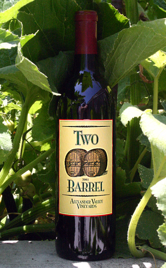 Alexander Valley Vineyards 2005 Two Barrel - Syrah Merlot 750ml Wine Bottle