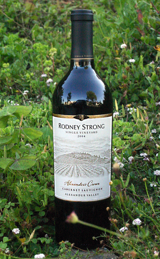 Rodney Strong Vineyards 2004 Alexander's Crown Vineyard Cabernet Sauvignon 750ml Wine Bottle
