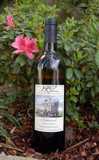 Kaz Winery 2005 Outbound Cabernet Franc 750ml Wine Bottle