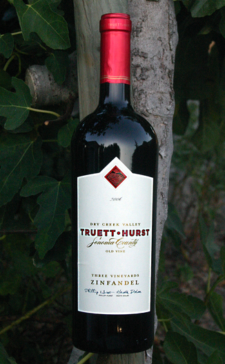 Truett-Hurst Vineyards & Winery 2006 Three Vineyards Zinfandel 750ml Wine Bottle