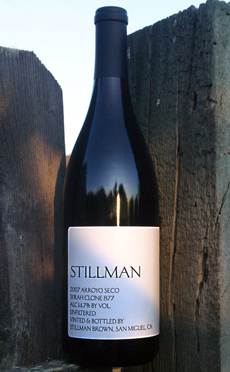 Red Zeppelin Winery 2007 'Stillman' Arroyo Seco Clone 877 Syrah 750ml Wine Bottle