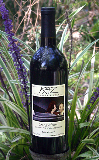 Kaz Winery 2007 Sangiofranc 750ml Wine Bottle