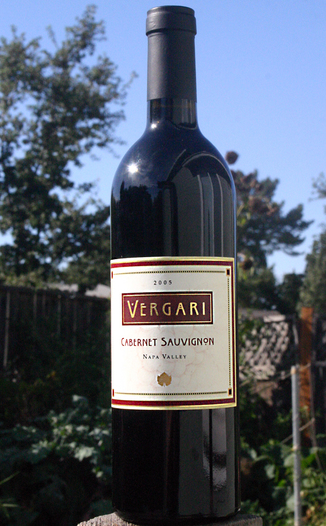 Vergari Wine 2005 Napa Valley Cabernet Sauvignon 750ml Wine Bottle