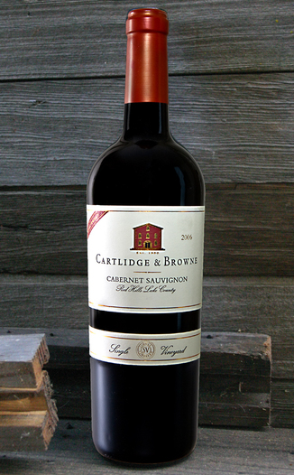 Cartlidge & Browne Winery 2006 Red Hills Lake County Cabernet Sauvignon 750ml Wine Bottle