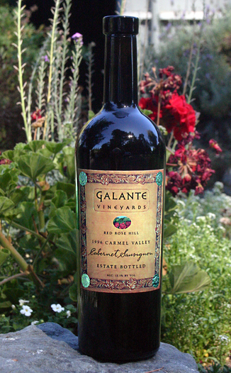 Galante Vineyards 1996 Red Rose Hill Cabernet Sauvignon 750ml Wine Bottle