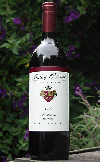 Maloy O'Neill Vineyards 2005 Lexicon 750ml Wine Bottle