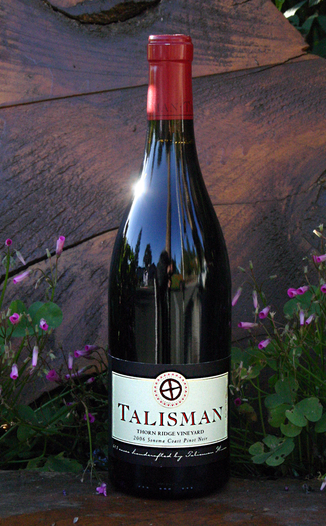 Talisman Wines 2006 Thorn Ridge Vineyard Sonoma Coast Pinot Noir 750ml Wine Bottle