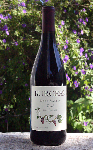 Burgess Cellars 2005 Napa Valley Syrah 750ml Wine Bottle