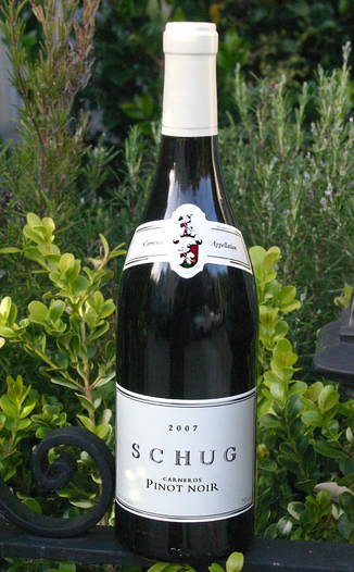 Schug Carneros Estate 2007 Carneros Pinot Noir 750ml Wine Bottle