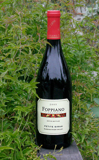 Foppiano Vineyards 2005 Estate Petite Sirah 750ml Wine Bottle