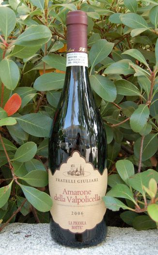 Fratelli Giuliari 2006 'La Piccola Botte' Amarone della Valpolicella 750ml Wine Bottle