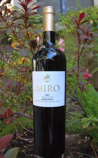 Miro Cellars 2007 '80 Year Old Vines' Zinfandel 750ml Wine Bottle