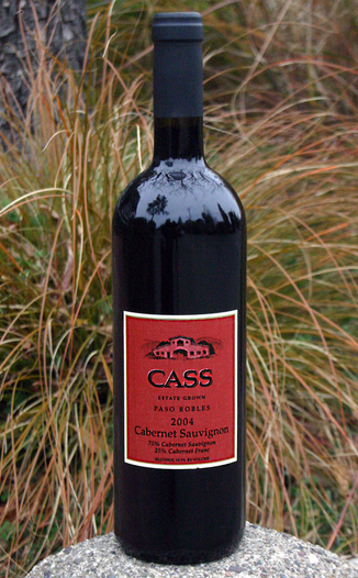 Cass Winery 2004 Estate Grown Cabernet Sauvignon 750ml Wine Bottle