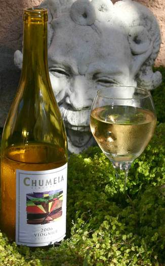 Chumeia Vineyards 2006 Viognier California 750ml Wine Bottle