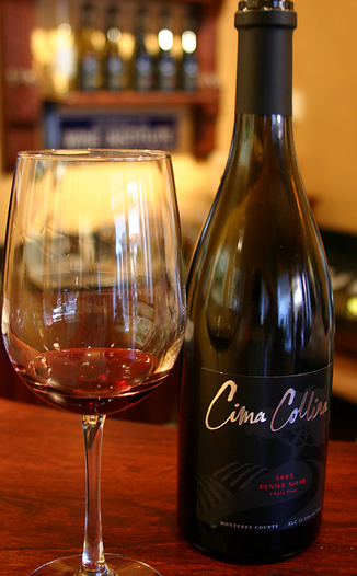 Cima Collina  2005 Chula Vina Vineyard Pinot Noir  750ml Wine Bottle