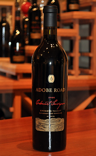 Adobe Road 2006 Knights Valley Cabernet Sauvignon 750ml Wine Bottle