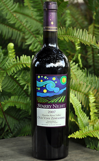 Starry Night Winery 2007 Russian River Valley Old Vine Zinfandel 750ml Wine Bottle