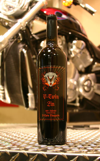 V-Twin Vineyards 2005 V-Twin Zin 750ml Wine Bottle