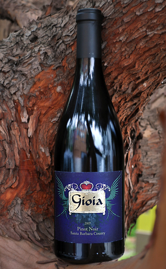 Gioia Wines 2007 Santa Barbara County Pinot Noir 750ml Wine Bottle
