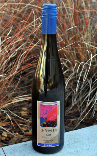 Chehalem Winery 2007 Pinot Gris Reserve  750ml Wine Bottle