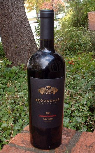 Brookdale Vineyards 2003 Cabernet Sauvignon 750ml Wine Bottle