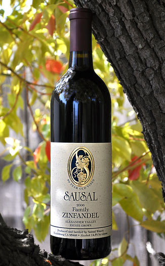 Sausal Winery (closed) 2006 Family Zinfandel 750ml Wine Bottle