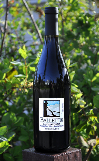 Balletto Vineyards 2007 Winery Block Pinot Noir 750ml Wine Bottle