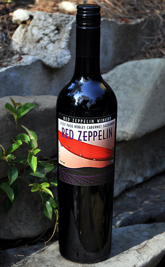 Red Zeppelin Winery 2007 Red Zeppelin Cabernet Sauvignon 750ml Wine Bottle